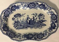 Spode Blue Room Collection - Girl at Well - Mini Platter Blue