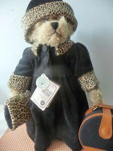 Jacqueline K. Bearington Boyds Mohair Collection Bear Jointed Tags Leopard Trim