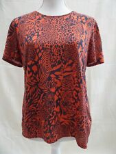 Marks & Spencer Collection tiger print stretch short sleeve top Size 10