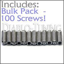 BULK PACK QTY 100 - M3 x 10mm Stainless Saddle Height Screws - Fender MIM Strat
