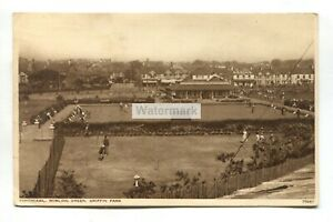 Porthcawl - Bowling Green, Griffin Park - 1938 used Glamorgan postcard