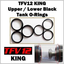 6- TFV12 KING Black Up / Low Tank Set Orings ( ORing O-Rings smok Gasket Seals )