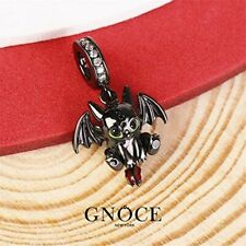 Genuine GNOCE New York Toothless HTTYD Dragon Sterling Silver Black Charm NEW!