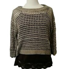Women's Great Casual or Dress Very Chic Crochet Top size M