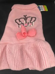 Top Paw Dog Sweater - Pink with Crown Emblem