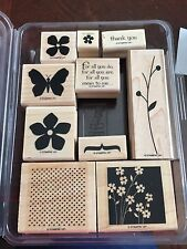 """Stampin Up Retired Wood Mount Stamp Set """"For All You Do"""""""