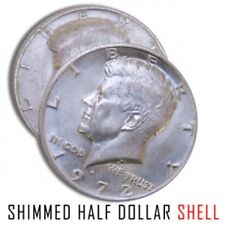 1 SHIM SHELL COIN US HALF DOLLAR Heads Kennedy Trick Hollow Money .25 Magician