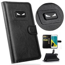 Angry eyes Litchi Leather wallet flip stand pouch Cover Case For Acer /Amazon