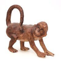 """Vtg 12"""" Tall Wild Brown Spider Monkey Paper Mache Unique Figure Statue"""