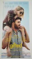 GIFTED (2017) Locandina Film 33x70 Poster Originale Cinema