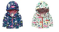 Girls Rain Mac Jacket Coat Wind Breaker Lined Size Age 2 3 4 5 6 7 8 Years