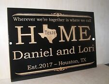 Personalized WOOD Sign.Family Name Established.Any text Engraved.Wedding Gift.