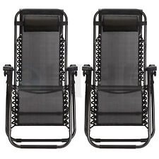 Case Of 2 Zero Gravity Chairs Patio Outdoor Beach Chairs Indoor Folding Lounges