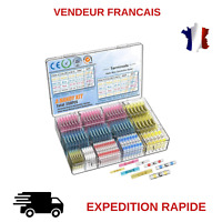 CONNECTEUR GAINE THERMORETRACTABLE A SOUDER A SERTIR 250 PCS COSSES ELECTRIQUE