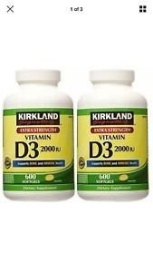 Kirkland Signature 2 Pack Of Kirkland Maximum Strength Vitamin D3 Softgels