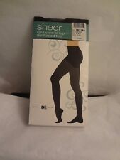 SHEER LIGHT CONTROL TOP PANTYHOSE OFF-BLACK SIZE PLUS