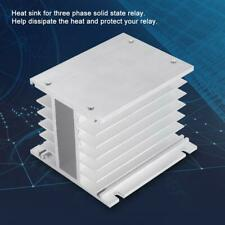 Aluminum Alloy Heat Sink  State Relay SSR Radiator For Three Phase New