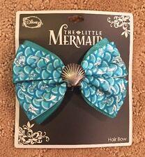 Disney The Little Mermaid Ariel Shell Charm Cosplay Hair Bow Tie Hair Clip NWT!