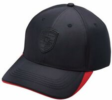 New Genuine Porsche Drivers Selection Black & Red Textiles Baseball Cap Hat
