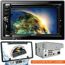 """Gravity CAR AUDIO DOUBLE DIN 6.2"""" TOUCHSCREEN LCD DVD CD MP3 BLUETOOTH + CAMERA"""