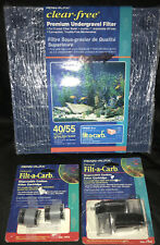 PENN PLAX Premium Undergravel Filter 40/55 Gallons with Deposable Carbon Filters