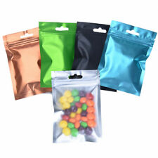 Front Clear Matte Mylar Zip Lock Bag Resealable Aluminum Foil Pouches Food Grade