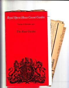 Opera Programme 1970 Covent Garden the Knot Garden by Michael Tippett