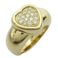 PIAGET Heart Ring 18K (750) Yellow Gold Clear Used #12