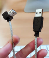 20cm USB Type A Male to Up Right Angled 90 Degree USB Female Extension Cable