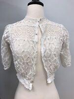 1910s Antique Edwardian white crochet lace top blouse very good condition Bridal