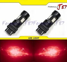 LED Light 6W 3457 Red Two Bulbs Rear Turn Signal Park Brake Tail Stop Fit