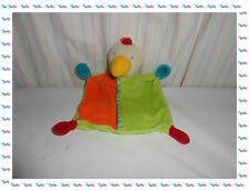 I - Doudou Semi Plat Oiseau Poussin Vert Orange Bleu Rouge ...  Baby Club
