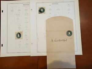 US Postal Stationery Used Wrapper Entire plus album pages and squares!