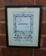 Usa patent dessin monopoly board game parker brothers mounted print 1935 cadeau