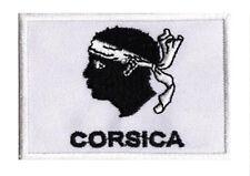 Écusson patche drapeau patch region CORSE Corsica 70 x 45 mm à coudre
