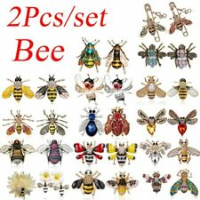 Pin Corsage Party Jewelry Gift wholesale Insect Bee Enamel Pearl Crystal Brooch
