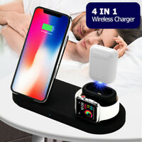 4 in 1 Qi Fast Wireless Charging Charger Pad for Watch Headset i Phone Samsung