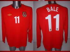 Galles Gareth Bale adulto XL L/S UMBRO MAGLIA JERSEY FOOTBALL SOCCER Real Madrid