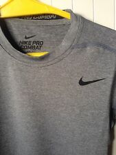 Nike Mens Pro Combat Compression Shirt - Grey sz M - Brand New With Tags