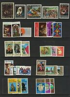 MNZ109) New Zealand 1960 - 1980 Christmas Stamp Sets MUH