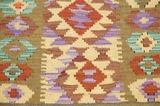 Flat-Weave South-West Design 3ft Square Kilim Turkish Oriental Area Rug Wool 3x3