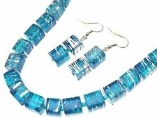 Blue Necklace And Earrings Set Necklaces For Women Blue Jewellery AW68