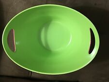 Pink Two Handled Bowl with Green Interior