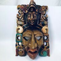 Gallery-Worthy Hand-carved Mayan Wooden Mask, Incredible Artistry (Vintage?)