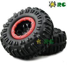 2pcs NEW RC 2.2 Crawler Tires 130mm & 2.2 Beadlock Wheels For 1/10 RC Crawler