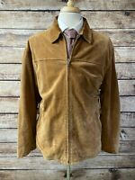 Polo Ralph Lauren Suede Leather Jacket Size L Brown
