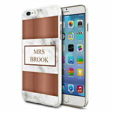 Personalised Marble Phone Case Cover for Apple Samsung Initial Text Name - 36