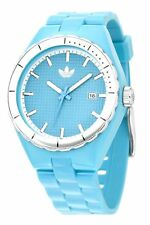 NEW ADIDAS MED BLUE+SILVER WATCH+DATE CAMBRIDGE ADH2039