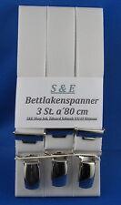 Bettlakenspanner/ Betttuchspanner-eigene Herstellung 3 St. weiß neu / Art.Nr. 03