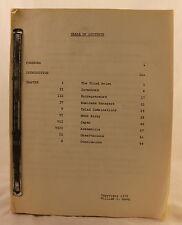 Unpublished Manuscript Autobiography of William Moog 1979 Space NASA Boeing Moon